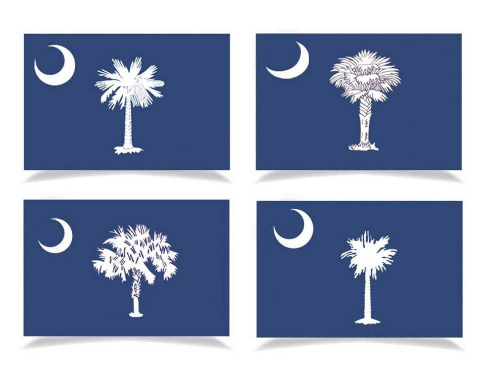 different versions of the state flag