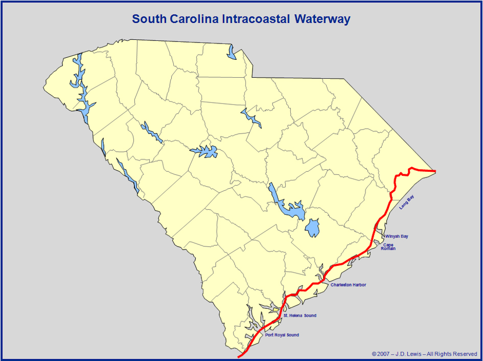 Intracoastal Waterway through Charleston, S.C. on creek map, ip map, waterway in va map, sir walter raleigh route map, ice map, arc map, io map, cdc map, oak island north carolina beaches map, safeco map, iso map, aps map, microsoft map, icn map, icc map, axis map, travelers map, north carolina inland waterway map, marina map,