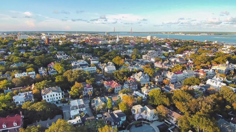 Charleston drone image | Photo by @charlestonpired