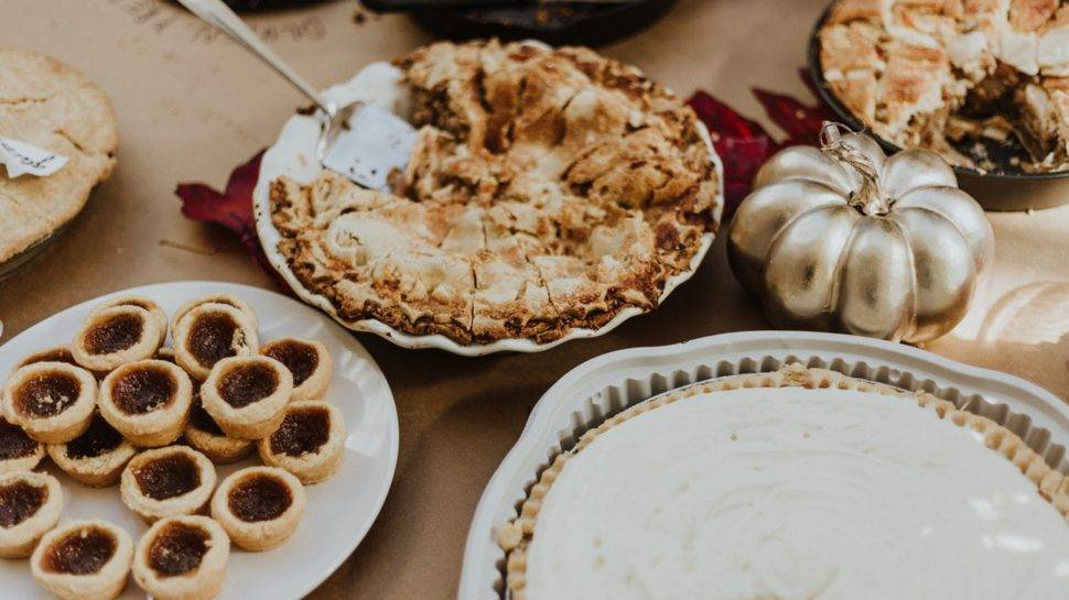 stock photo of thanksgiving desserts