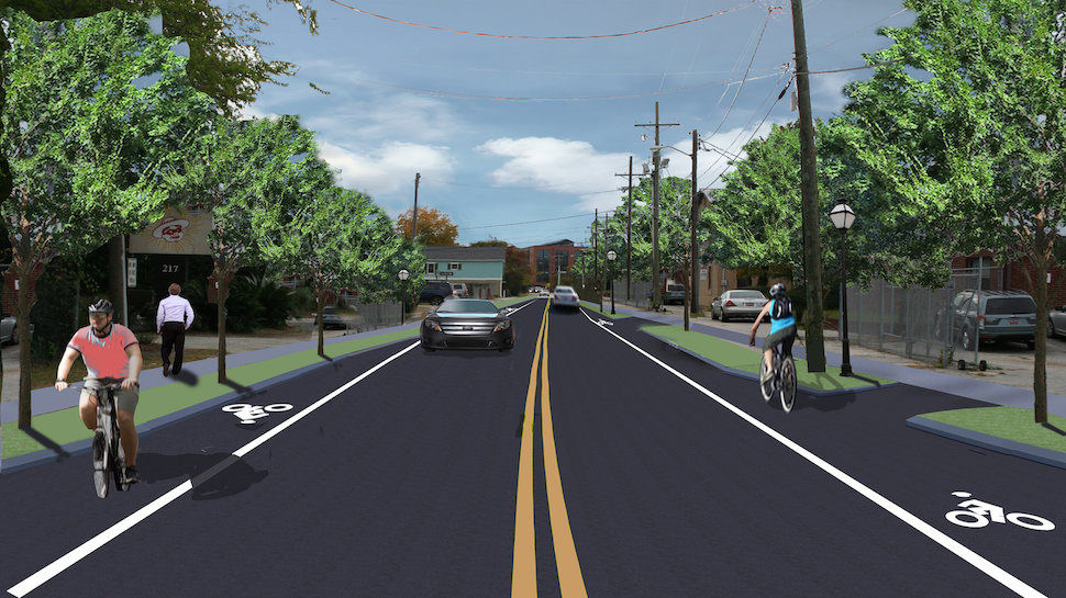 Huger Street Streetscape Project