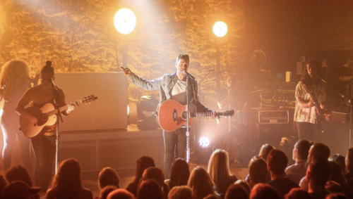 Andy Grammer performing at the Farm in 2019